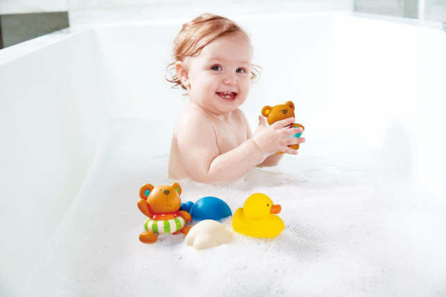 Bath time: what a fun occasion to learn!