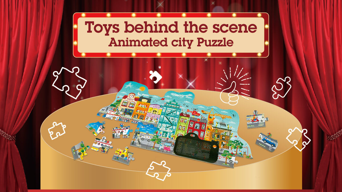 Toys behind the scenes Animated city Puzzle