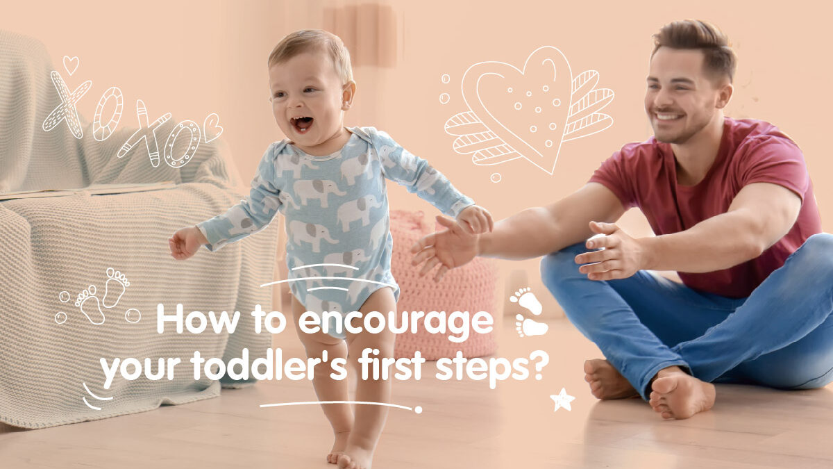How to encourage your toddler's first steps