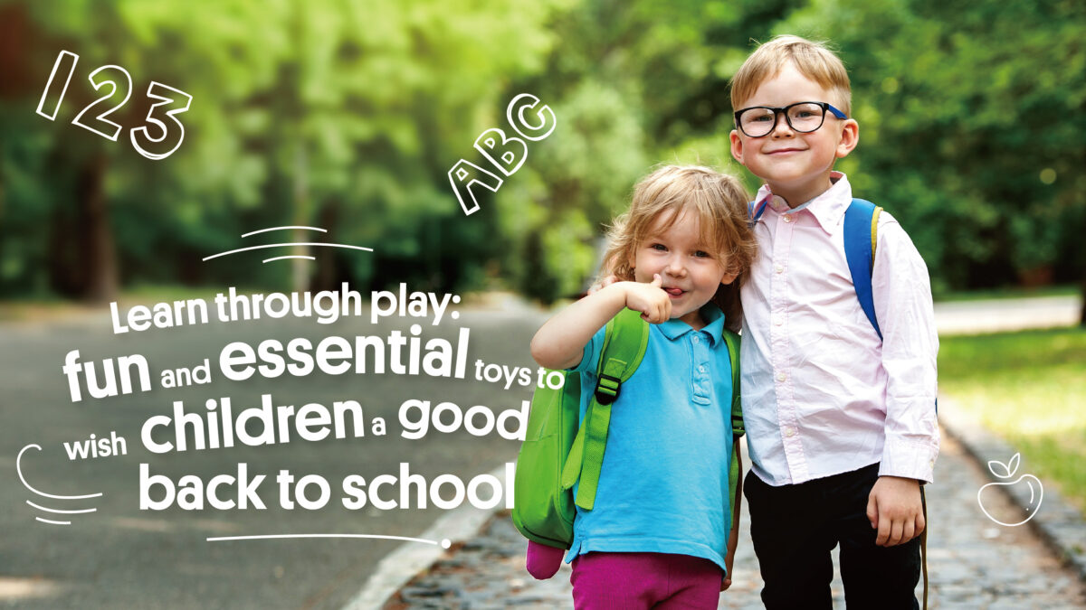 Learn through play: fun and essential toys to wish children a good back to school