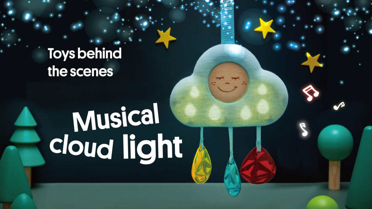 Toys behind the scenes: Musical Cloud Light