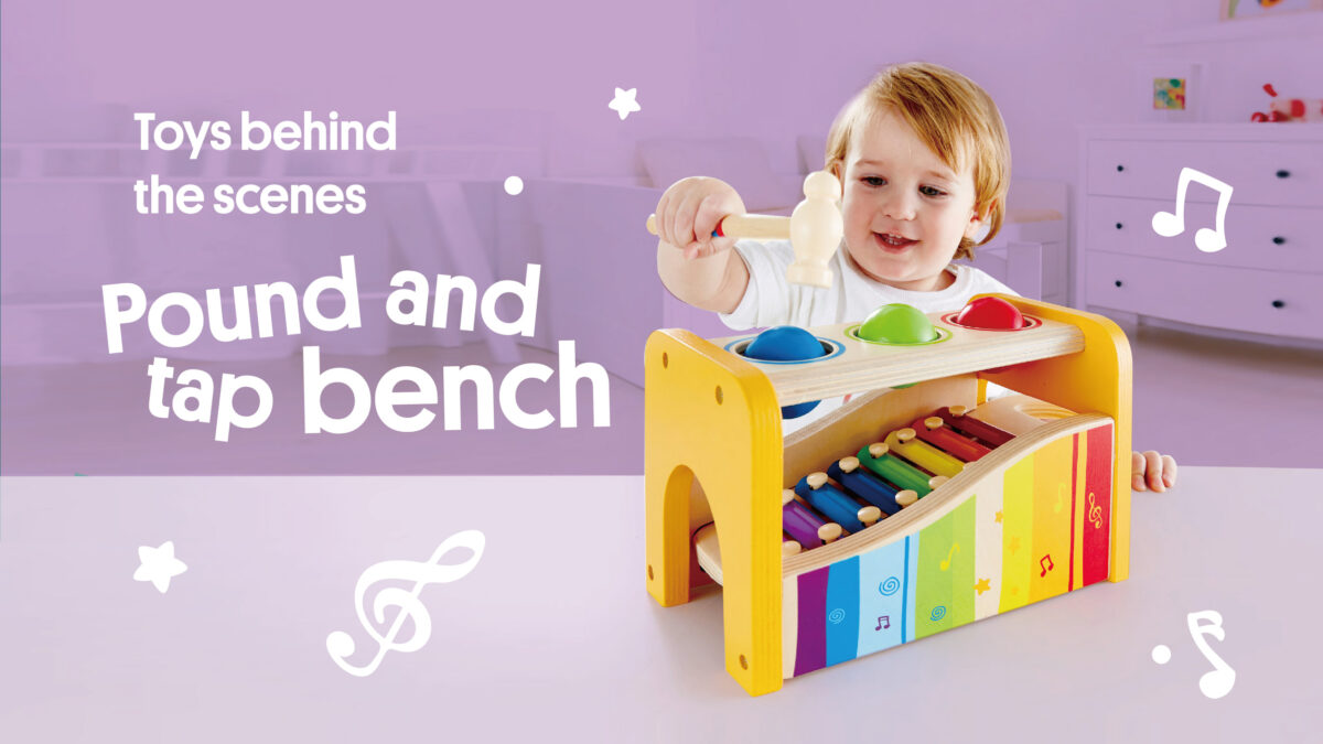Hape POUND AND TAP BENCH Pound and tap into a world of endless fun