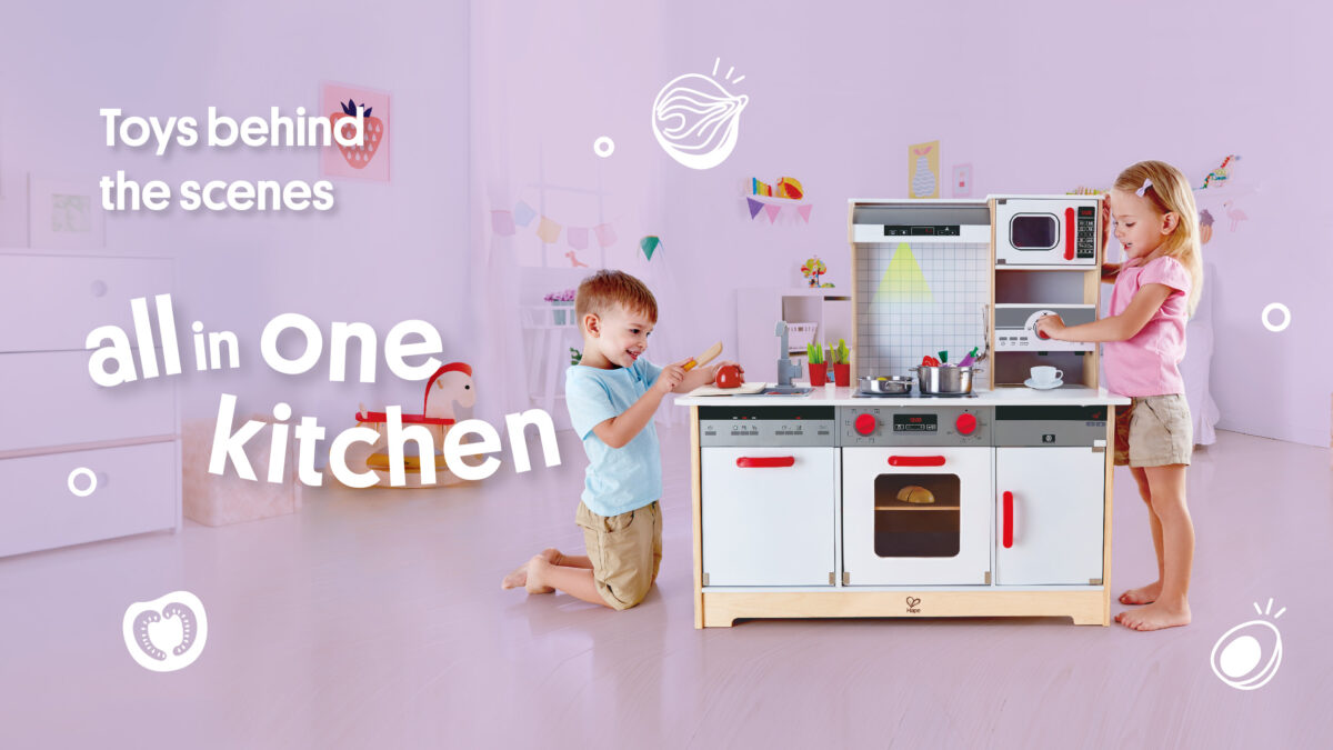 Hape ALL-IN-1 KITCHEN     The ultimate recipe for fun – it's all in your toy kitchen!