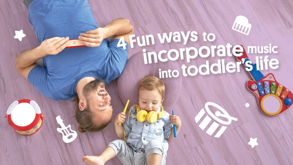 4 Fun ways to incorporate music into your toddler's life